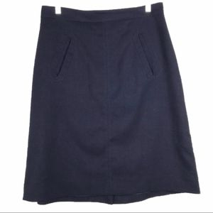Anthropologie A-Line Skirt in Navy Sz L